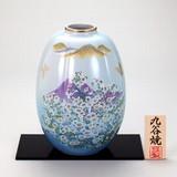 【九谷焼】 8号ナツメ花瓶 かすみ草