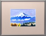 KUTANI Ware Ceramic Frame Mt. Fuji