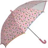 【はらぺこあおむし】子供用雨傘 総柄プリント前面透明POE マルチカラーパイピング