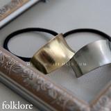 【folklore】シンプルなメタルプレートヘアゴム/ヘアアクセ◆421000