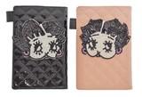 【マルチケース】キルトエナメルマルチケース ベティ 2種 黒 パスポート ゴルフ カバー