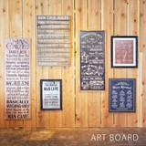 Art Frame Art Board Retro Cafe Interior Items