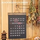 万年カレンダー 【BLACK BOARD CALENDAR】ブラック ボード カレンダー 黒板
