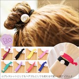 【E3-7】アクセサリー 髪留め 髪飾り ブレスレット ツイストバンド ヘアゴム ■Y-GOM-088■