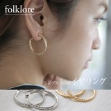 【再入荷】[folklore]穴が開いてなくても大丈夫!デザインイヤリング◆420997