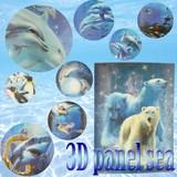 【在庫一掃/超特価】【インテリア/雑貨】3Dパネル SEA/ポスター/イルカ/ドルフィン