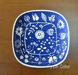 【フラワーパレード】【取り皿・ブルー】【波佐見焼】15×15cm 高さ2.5cm 220g