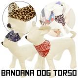 【今週のオススメ】小型犬バンダナドッグトルソーSサイズ/フェイクレザー/ぬいぐるみディスプレイ/マネキン