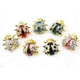 Glitter Brooch Ladybugs Ladybugs