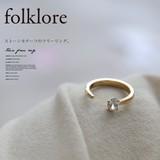 【再入荷】[folklore]ストーンモチーフフリーリング/指輪◆420985