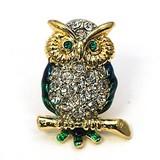 Glitter Brooch Owl