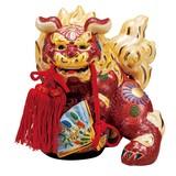 【九谷焼】5号扇面獅子 盛