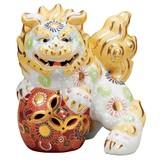 【九谷焼】6.5号立獅子(右) 白盛