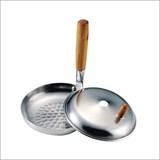 【親子丼やカツ丼などの丼物を作るのに便利】和の食 アルミ蓋付 親子鍋 16cm H-692
