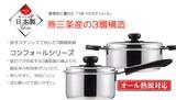 【日本製】【オール熱対応】 パール金属 コンフォール 3層鋼片手鍋14・16・18cm・両手鍋20・22cm