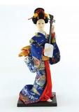 <和雑貨・人形>9インチ 日本人形 三味線 (商品コード:303-021)