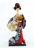 <和雑貨・人形>9インチ 日本人形 扇子 (商品コード:303-022)