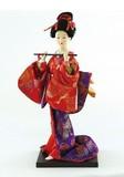 <和雑貨・人形>9インチ 日本人形 笛 (商品コード:303-023)