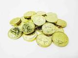 【縁日お祭り・宝石すくい】クラッシュアイス コイン メッキゴールド 800g/190pcs No.506-555