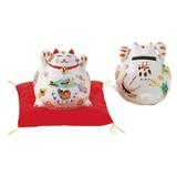 (磁)猫貯金箱(小)白
