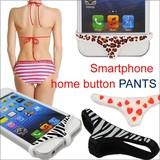 【E-5】スマートフォンのホームボタンを可愛くカスタマイズ♪■PANT-SILCON■