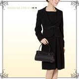 【ブラックフォーマル】タックデザインアンサンブルスーツ 礼服 2点セット