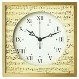 手書き譜が落ち着いた雰囲気を演出する Score Clock[スワロフスキー/ラインストーン使用)