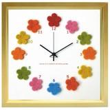 カラフルなフェルトを文字盤に使った可愛い掛け時計 Felt Clock