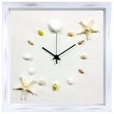 本物の貝殻を使って仕上げた掛け時計<シェルクロック>