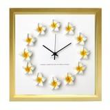 ハワイアンに人気のプルメリアを文字盤にあしらった掛け時計 FrangiPani Clock1
