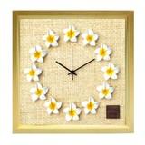 人気のプルメリアを文字盤にあしらった掛け時計 FrangiPani Clock2