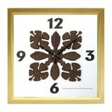 人気のハワイアンキルト柄を文字盤にあしらった掛け時計 HawaiianQuilt Clock