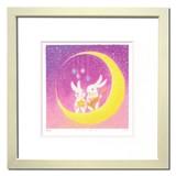 新作!優しい雰囲気で人気のアート♪ Ryo/きらめく夜空で <ジグレー版画>