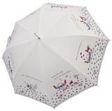 ☆スティッチ長傘☆60m☆雨傘☆オフホワイト・ネイビー☆