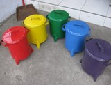 トラッシュカン [ごみ箱] ハンドメイド 4色 Sサイズ