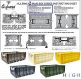 MULTIWAY2 [HIGH]!コンフォートロック式 折り畳みコンテナボックス