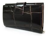 【予約商品】11月初旬入荷予定 プリマ 本革クロコ型押し二つ折り長財布