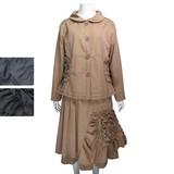 ◆在庫処分値下げ◆◆秋冬物◆『ミセス』ジャーケットスカート上下セット(M15218)