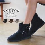【倉庫移転記念SALE】◆ベルト付フェイクムートンブーツ/靴/雑貨◆420219