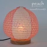 【直送可能/日本製和紙照明】和紙照明 テーブルランプ  SS-3020 peach