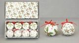 【2016クリスマス】シュガーホリーリーフプリントボール 60mm