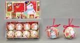 【2016クリスマス】シャイニー&シュガーサンタスノーマンプリントボール 60mm