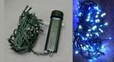 【クリスマス】LEDライトチェーンICコントローラー付き 48球 ブルー×ホワイト