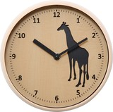 Animal Wall Clock Series Giraffe Cat