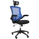 メッシュタイプ 360度回転 メッシュオフィスチェア 青 X-5H-BL