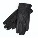 【本革】ラム皮レザーグローブ ブラック テブクロ 婦人 革手袋