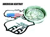 ルート66 アメリカ地形、USコインのASHTRAY!【アメリカン灰皿】