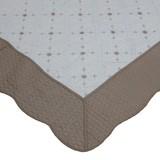 綿100% 両面使える刺繍入り水洗いキルトマルチカバー「サンマリノ」 BE