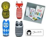 手作りソーイングキット『Large Craft Kit- ANIMAL FAMILY』by Jane Foster