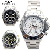 【TECHNOS】 テクノス クロノグラフ腕時計 TSM401